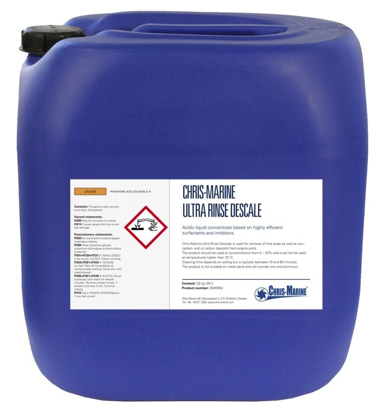 Ultra Rinse Descale is a highly efficient cleaning chemical for Engine parts.