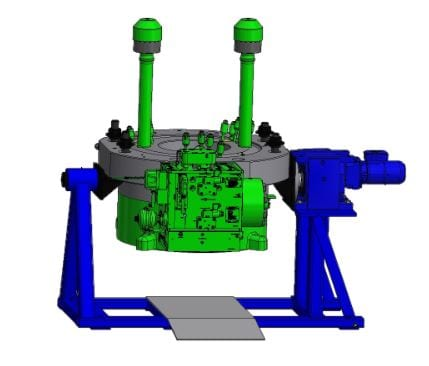 WR 40 electrically driven working rig  for maintenance of 2-stroke engine parts